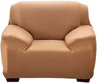 Efanr Stretchable Sedia Loveseat di Divano, in Poliestere e Spandex Tessuto Fodera Braccio Elastico Tratto 123posti mobili Protector Couch Antiscivolo, Camel, Chair (35-55')