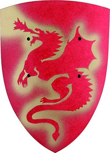 Escudo dragón rojo niño - Única