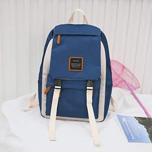Blue Ligera Blue Mochila La Jakiload Knapsack Secundaria Gran Adulto Para De color Popular Capacidad School High Del a1pwACIq