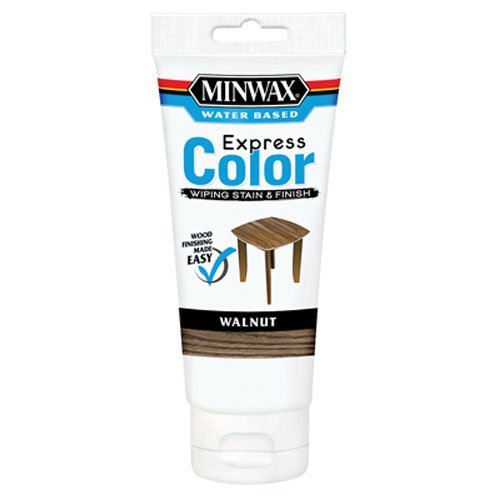 (Minwax 308034444  Express Color Wiping Stain and Finish, Walnut)