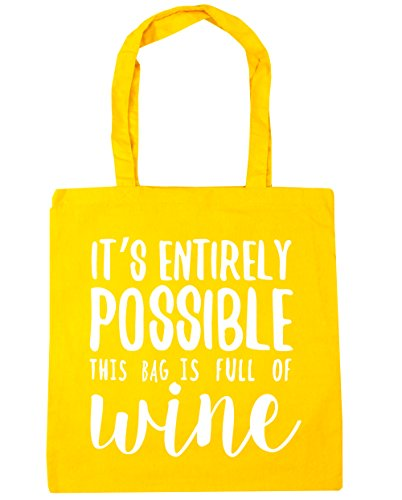 Bag Yellow 10 x38cm bag of possible It's Beach 42cm full Tote entirely HippoWarehouse is Gym Shopping litres wine this FqOw4Uf
