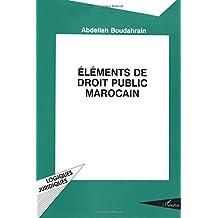éléments de droit public marocain