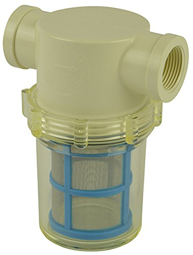 1'' Female NPT In-line Strainer with 50 mesh stainless steel screen by VacMotion Inc.