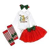 BAOBAOLAI Newborn Baby Girls Outfits My First Christmas Romper Dot Print Tutu Dress Set