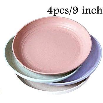 Amazon.com: 4 platos de cena de 7.9 in, aptos para ...