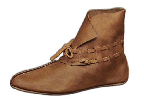 CP-Schuhe wendegenähte Mittelalter Wikinger Schuhe mit Riemenverschluss