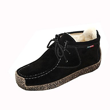 WSX&PLM Da donna-Stivaletti-Casual-Comoda-Piatto-PU (Poliuretano)-Nero Marrone Rosso , dark brown , us8 / eu39 / uk6 / cn39