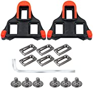 SPD SL Bike Cleats,Compatible with Shimano SPD-SL Bicycle Cleat,6 Degree Float- for Road Bike & Indoor Cyc