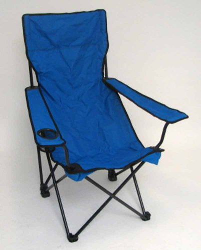 PERSONALIZED IMPRINTED Classic Bubba Hi-Back Quad Chair - Blue