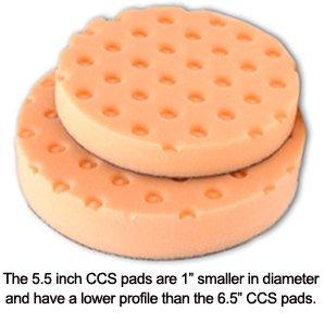 Orange Light Cutting CCS Smart Pads™ Da 5.5 Inch Foam Pads -3 Pack
