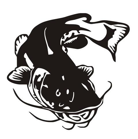 Catfish v8 Decal Sticker - Peel and Stick Sticker Graphic - - Auto, Wall, Laptop, Cell, Truck Sticker for Windows, Cars, Trucks
