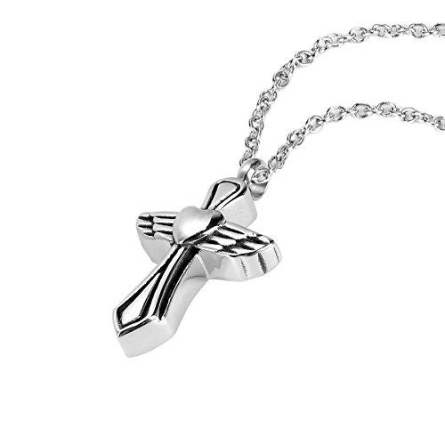 ZARABE Cremation Jewelry Angel Wing Peace Pray Charm wate...