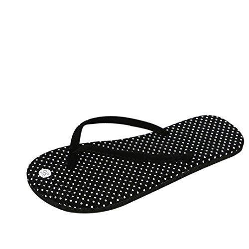 LHWY A Frauen Striped Hausschuhe Slipper Sandalen Sommer Damen Mode Flops Design Outdoor Flip Schwarz Punkte Zehentrenner Sandalen Strandschuhe TtTPrq