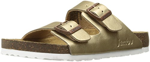 Jambu Women's Woodstock-Vegan Slide Sandal, Bronze, 9.5 M - Woodstock Women Of