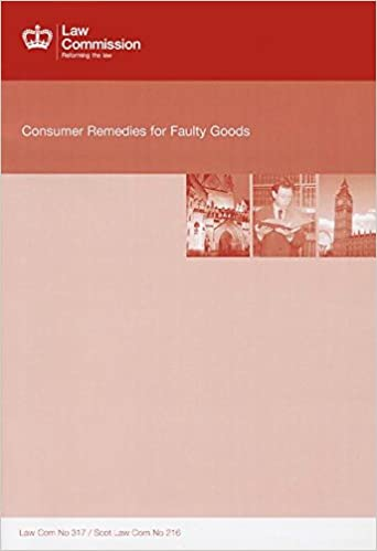 Book Consumer Remedies for Faulty Goods (Cm.)