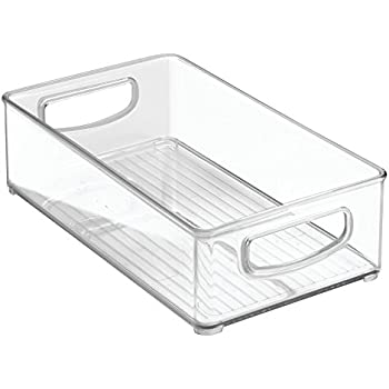"""'InterDesign Home Kitchen Organizer Bin for Pantry, Refrigerator, Freezer & Storage Cabinet, 10"""" x 3"""" x 6"""", Clear' from the web at 'https://images-na.ssl-images-amazon.com/images/I/41jkaGNv9oL._SL500_AC_SS350_.jpg'"""