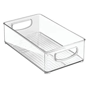 """InterDesign Home Kitchen Organizer Bin for Pantry, Refrigerator, Freezer & Storage Cabinet, 10"""" x 6"""" x 3"""", Clear"""