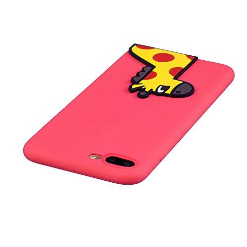 iPhone 7 / 8 Plus Custodia , Moda 3D Cervo Giallo Silicone leggero Morbido TPU Sollievo Sottile Protezione Antiurto Copertura Antiscivolo Resistente Coperture Cover Case Custodia per Apple iPhone 7 /