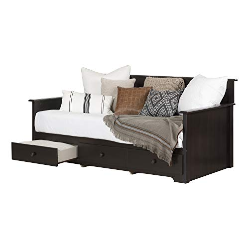 """South Shore Daybed with 3 Storage Drawers, Chocolate, 39"""","""