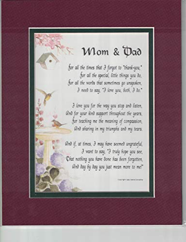 Genie's Poems A Present for Mom and Dad Poem #135, A Gift for Parents' Anniversary