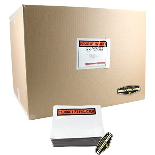 """500 Pack of Mighty Gadget (R) Light Weight Side Loading Packing List Envelopes - 4.5"""" x 5.5"""" by Mighty Gadget (Image #1)"""