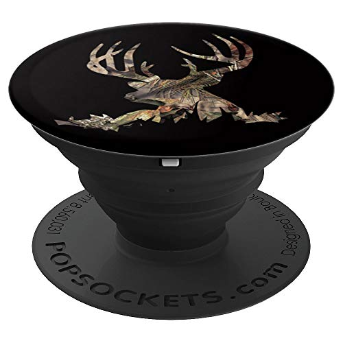 Oak Camo deer skull Deer Hunting Hunting Lovers Gift - PopSockets Grip and Stand for Phones and Tablets