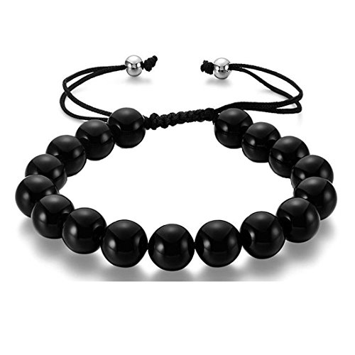 36 Different Styles for Choices Healing Energy Beads Stretch Bracelets,Lava Rock Magnetic Hematite Chakra Black Agate,Great Gifts for Women/Men/Patient/Athletes/Couples. (Black - Guys For Styles Different