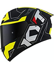 Capacete KYT TT Course Electron Preto Amarelo Fosco