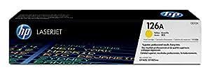 HP 126 - Cartucho de tóner Original HP 126A Amarillo para HP LaserJet Pro CP1025 , CP1025 , CP1025nw , CP1025nw; HP TopShot LaserJet Pro M275 ; HP LaserJet Pro 100 M175a , M175nw