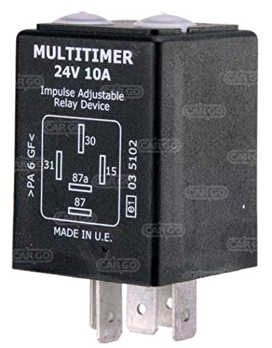 HC-Cargo Adjustable Variable Multi-Timer Relay 24V 10A 160928