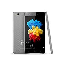 Kenxinda V6 Uncloked Dual-Sim Smartphone 4.5 inch Display, 8Mp+5MP Camera, Andoid 6.0 MTK6753 Platform Chinese Rugged Smartphone gray