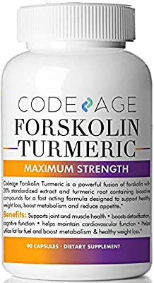 Extra Strength Turmeric Forskolin Weight Loss Formula - 90 Count - Premium Appetite Suppressant, Metabolism Booster, Fat Burner & Belly Buster Diet Pills supplement for Women and Men Coleus Forskohlii