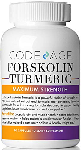Extra Strength Turmeric Forskolin Weight Loss Formula – 90 Count – Premium Appetite Suppressant, Metabolism Booster, Fat Burner & Belly Buster Diet Pills supplement for Women and Men Coleus Forskohlii