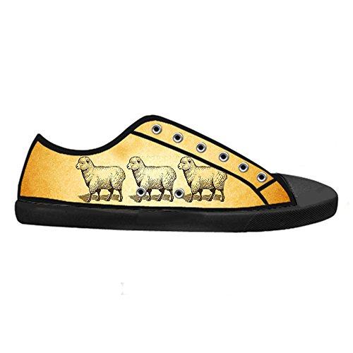 Dalliy Schaf Muster Mens Canvas shoes Schuhe Lace-up High-top Sneakers Segeltuchschuhe Leinwand-Schuh-Turnschuhe E