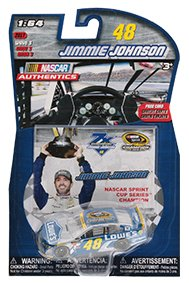 Nascar Seven Time 7X Champion Jimmie Johnson #48 Lowes Sprint Cup Champion Collector Card Authentics 1/64 Scale - Sprint Cup