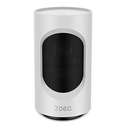 Space Heaters Indoor Use,600W Energy Saving Portable Safe Fan Heater 50° Oscillation,2s Fast Heat, Low Noise, OverHeat TipOver Protection, Personal Electric Ceramic Heater for Bedroom Bathroom Office