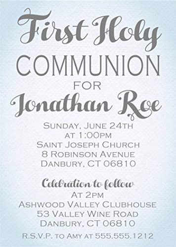 (Personalized First Holy Communion Invitations)
