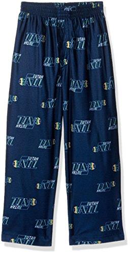 Outerstuff NBA Boys 4-7 Jazz Sleepwear All Over Print Pant, L(7), Dark Navy