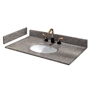 pegasus pe31603 31 inch napoli granite vanity top with white bowl and 8 inch spread. Black Bedroom Furniture Sets. Home Design Ideas
