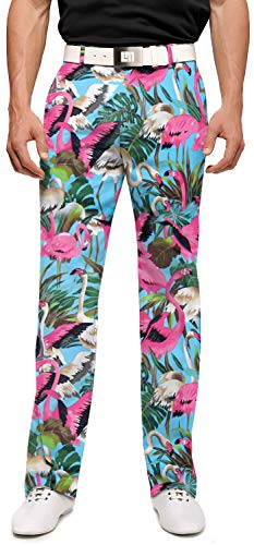 Loudmouth Golf Pink Flamingos Men's Pant - 42x34