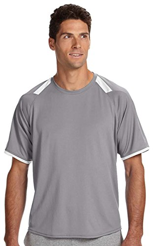 Russell Athletic Men's Dri-Power Tee with Color-Block Insert