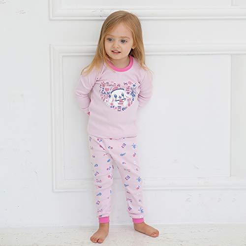 bonumam 18M-13Y Kids Unisex Boys & Girls 100% Cotton Innerwear Sleepwear Pajamas 2pcs Set