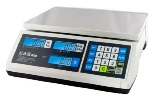 (CAS ERJR Price computing Scale, 30 lb x 0.01 lb, NTEP, Legal for Trade)