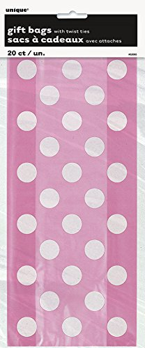Pink Polka Cellophane Bags 20ct product image
