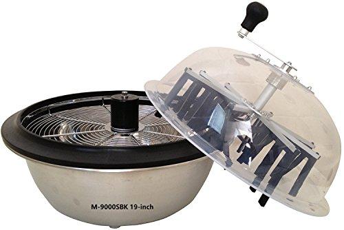 VR GROW the Clean Cut M-9000S Series Bowl Leaf Trimmer M-9000SBK 19-inch Hydroponic Spin Cut Bud Flower Bowl Leaf Trimmer by VR GROW the Clean cut
