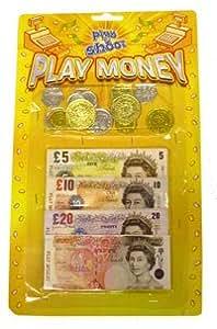 Jugar por dinero Libras Esterlinas Monedas y Notas (T09378) [Toy]