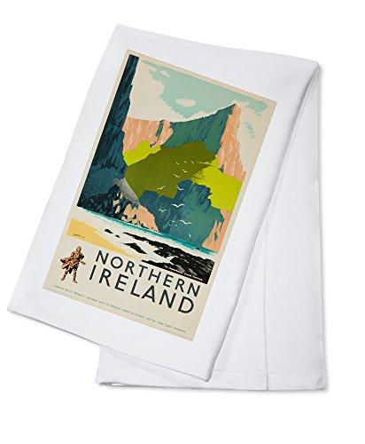 England - Northern Ireland - (artist: Lander c. 1952) - Vintage Advertisement (100% Cotton Kitchen Towel)
