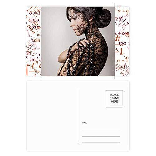 Religion Nude Brunette Beauty Body Gal Formula Postcard Set Thanks Card Mailing Side 20pcs