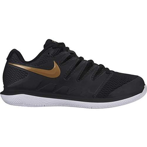 Nike Women's Air Zoom Vapor X Black/Metallic Gold/White 9 B US