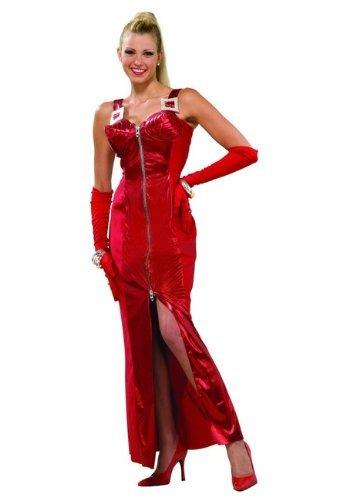 [Forum 80's To The Maxx Crimson Seduction Pop Star Costume Dress, Red, Medium/Large] (Pop Star Fancy Dress)